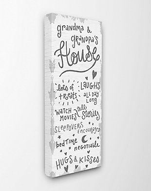 Grandparents House Family Home 13x30 Canvas Wall Art, Multi, large