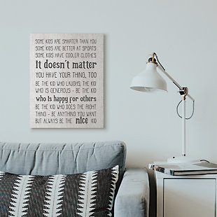 Be The Nice Kid Inspirational 24x30 Canvas Wall Art, , rollover