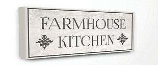 Farmhouse Kitchen Typography 20x48 Canvas Wall Art, Multi, large