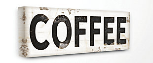 COFFEE Typography Vintage 20x48 Canvas Wall Art, Multi, large