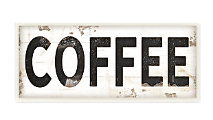 COFFEE Typography Vintage 7x17 Wall Plaque, , large