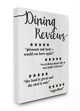 Dining Reviews Five Star Kitchen 36x48 Canvas Wall Art, Multi, large