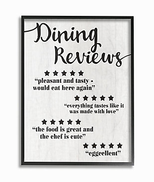 Dining Reviews Five Star Kitchen 11x14 Black Frame Wall Art, , large