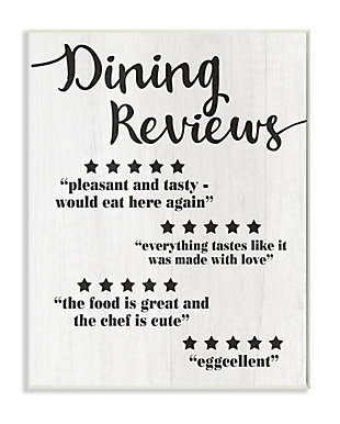 Dining Reviews Five Star Kitchen 13x19 Wall Plaque, , large