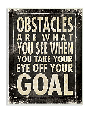 Obstacles Are What You See Inspirational Art 10x15 Wall Plaque, , large