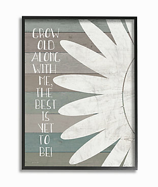 Grow Old Along with Me 24x30 Black Frame Wall Art, Multi, rollover