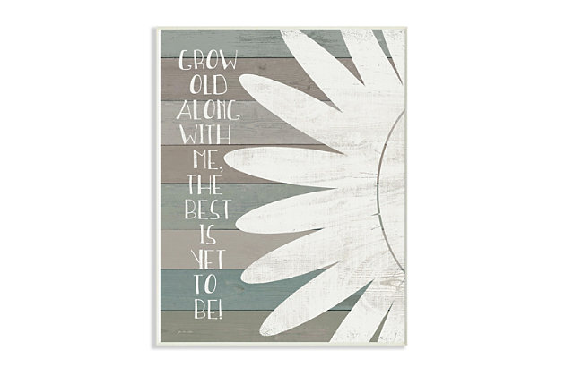 Grow Old Along with Me 13x19 Wall Plaque, , large