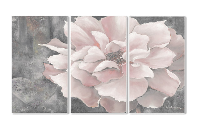 3 Piece Pastel Pink Peony 3pc Set 11x17 Canvas Wall Art, Multi, large