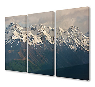 Panoramic of the Southern Alps Triptych 3pc 16x24 Canvas Wall Art, Multi, rollover