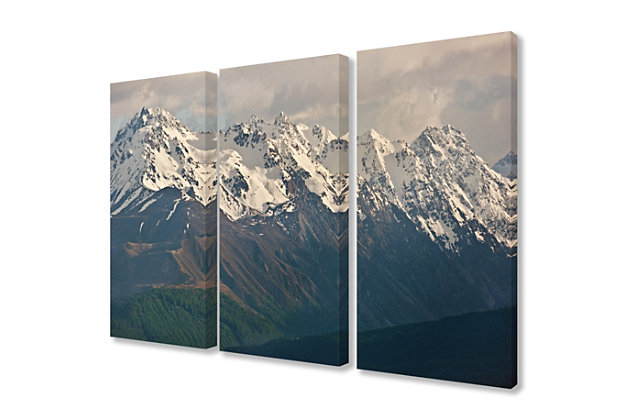 Panoramic of the Southern Alps Triptych 3pc 16x24 Canvas Wall Art, Multi, large