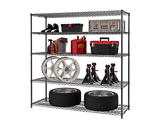 TRINITY PRO 5-Tier 72x24x72 Wire Shelving, , large
