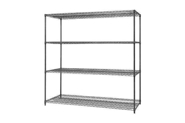 TRINITY PRO 4-Tier 72x30x72 Wire Shelving, , large