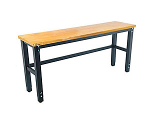 TRINITY 72x19 Wood Top Work Table, , large