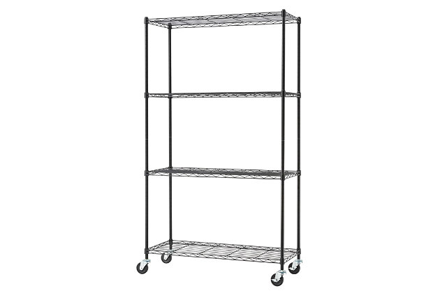 TRINITY Basics 4-Tier 36x14x62.5 Wire Shelving NSF, , large