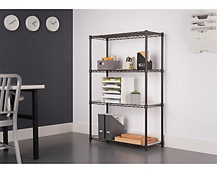 TRINITY 4-Tier 36x14x54 Wire Shelving NSF with Liners, , rollover