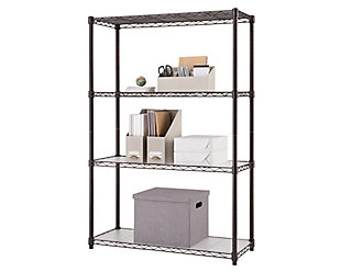 TRINITY 4-Tier 36x14x54 Wire Shelving NSF with Liners, , large
