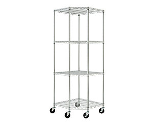 TRINITY EcoStorage™ 4-Tier 27x27x18x72 Corner Wire Shelving, , large