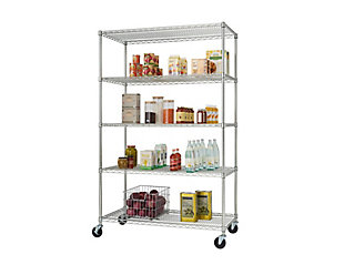 TRINITY EcoStorage™ 5-Tier 48x24x72 Wire Shelving NSF, , large