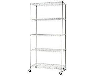 TRINITY Basics 5-Tier 36x18x76 Wire Shelving, , large