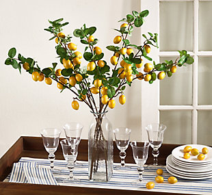 Faux Lemon Branches (Set of 4), , rollover