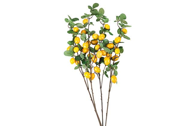 Faux Lemon Branches (Set of 4), , large