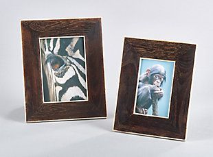 Wide Border Wooden and Bone Photo Frame, , rollover