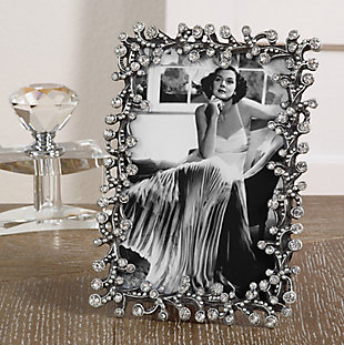 Small Stone Jeweled Picture Frame, , rollover
