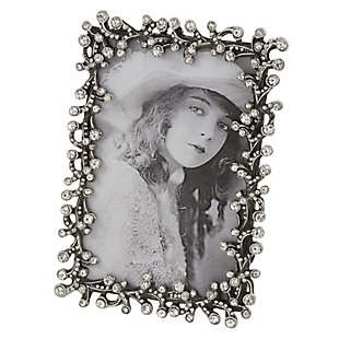 Small Stone Jeweled Picture Frame, , large