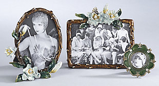 Floral Design Portrait Picture Frame, , rollover