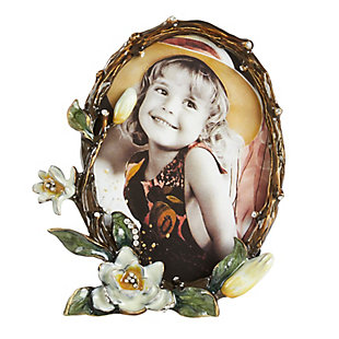 Floral Design Portrait Picture Frame, , large