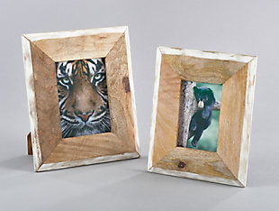 Two Tone Wooden Border Photo Frame, , rollover