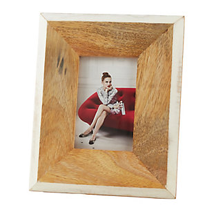 Two Tone Wooden Border Photo Frame, , large