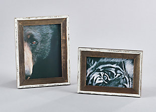 Distressed Wooden Picture Frame with Vintage Design, , rollover