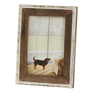 Distressed Wooden Picture Frame with Vintage Design, , large