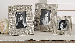 Portrait Picture Frame with Hammered Design, , rollover
