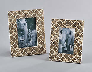 Moroccan Pattern Bone Photo Frame, , rollover