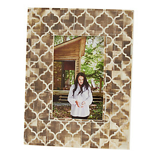 Moroccan Pattern Bone Photo Frame, , large