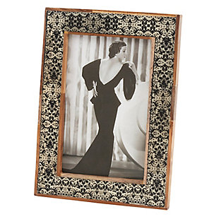 Wooden Picture Frame with Damask Border, , large
