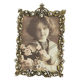 Wavy Border Photo Frame with Jeweled Design, , large