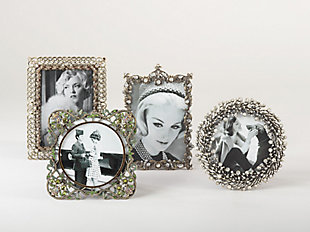 Wreath Design Jeweled Photo Frame, , rollover