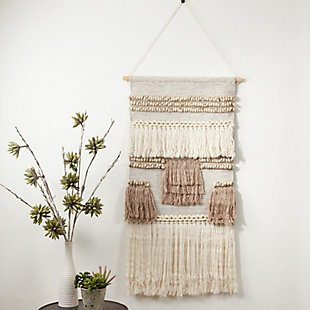 "Wall Hanging 47""x24"" with Textured Woven Design, , rollover"