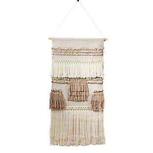 "Wall Hanging 47""x24"" with Textured Woven Design, , large"