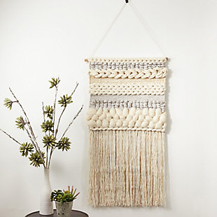 "Wall Hanging 47""x24"" with Fringe Braided Design, , rollover"
