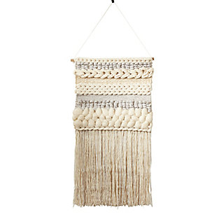 "Wall Hanging 47""x24"" with Fringe Braided Design, , large"