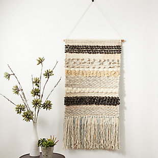 "Woven Multicolored 47""x24"" Wall Hanging, , rollover"