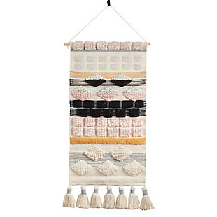 "Woven Wall Hanging 18""x40"" with Chunky Tassels Design, , large"