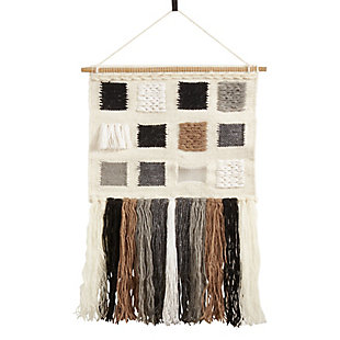 "Woven Wall Hanging 18""x28"" with Long Tassels Design, , large"