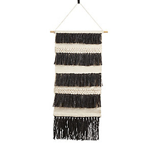 "Woven Wall Hanging 14""x34"" with Fringe Layered Design, , large"