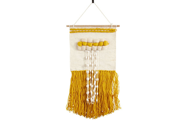 """Woven Wall Hanging 14""""x28"""" with Braid Design, , large"""