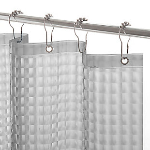 "Kenney Medium Weight Embossed PEVA Shower Curtain Liner, 70"" W x 72"" H, Smoke, rollover"